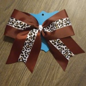 Other - Leopard cheer bow